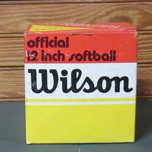 "Wilson Official 12"" Softball # A9040 NOS"